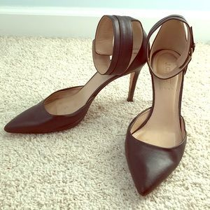 J.Crew Black Italian heels shoes size 8